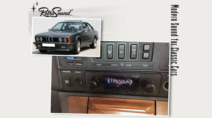 bmw e24 1975 89 oldtimer radios von retrosoundusa f r. Black Bedroom Furniture Sets. Home Design Ideas