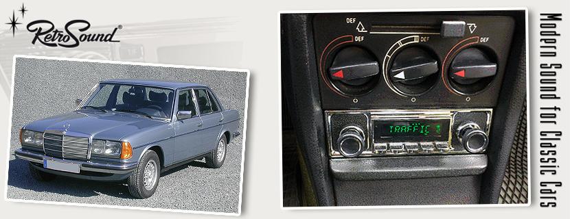 Mercedes W123 1975 86 Oldtimer Radios Von Retrosoundusa Fur Deinen