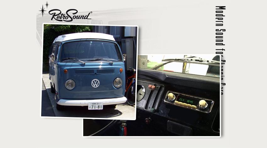 volkswagen bulli typ 2 t1 1958 85 oldtimer radios von. Black Bedroom Furniture Sets. Home Design Ideas